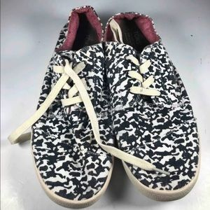 Toms Womens Paseo Sneakers Black White Size 9